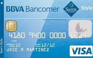 Tarjeta Bancomer Sam's Club Style