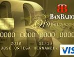 Tarjeta Visa Oro BanBajio