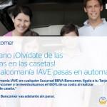 Promocion de Bancomer en casetas IAVE