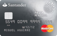 Tarjeta Santander Fiesta Rewards Platino