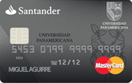 Tarjeta Santander Universidad Panamericana