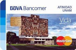 Tarjeta BBVA Bancomer Afinidad UNAM