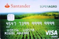 tarjeta santander superagro
